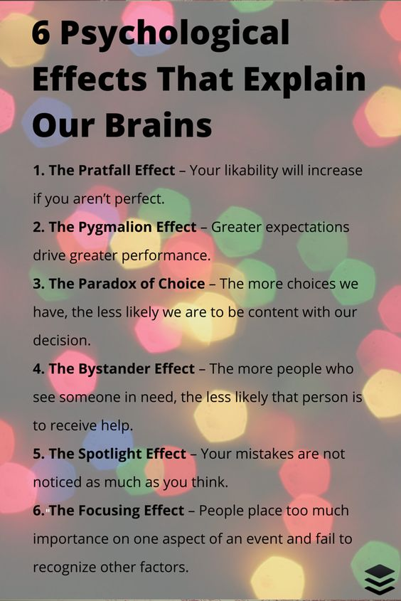 6 Psychological Effects That Affect How Our Brains
