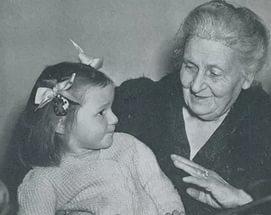 Мария Монтессори и ученица